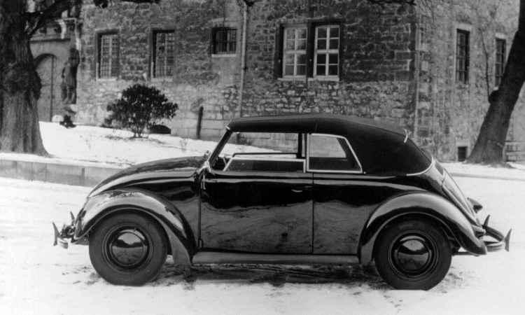 O Fusca conversível foi lançado em 1948, porém a unidade da foto tem chassi número 31, de 1938  - Volkswagen/Divulgação