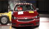 O hatch compacto Chevrolet Onix tira nota zero no teste de impacto lateral feito pelo Latin NCap