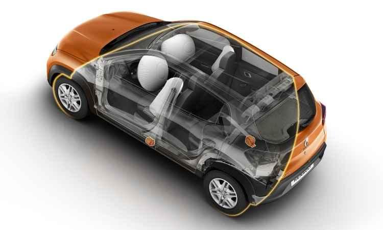 Airbags frontais e laterais, além de Isofix, são de série - Renault/Divulgação