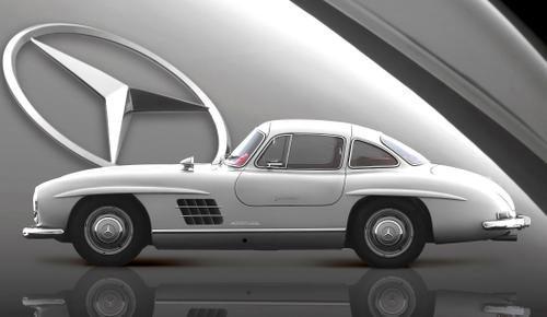 Mercedes-Benz 300 SL cupê Asa de Gaivota 1955
