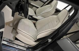 Os bancos dianteiros tem telas de LCD de 7 polegadas para os passageiros traseiros, tudo para tirar o foco dos demais ocupantes do velocímetro