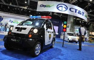Até mesmo uma versão policial do City EV e-Zone foi exibida