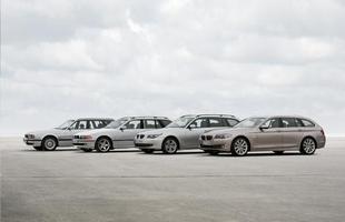 Esportividade familiar - as quatro gerações do Série 5 Touring lado a lado