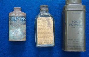 Cosméticos distribuídos aos militares durante a guerra