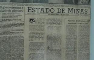 Capa do Estado de Minas em 23 de agosto de 1942