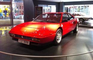 Mondial T, de 1989, em exposição na Galleria Ferrari