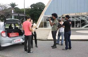 Bastidores da reportagem 'Transporte de cães'