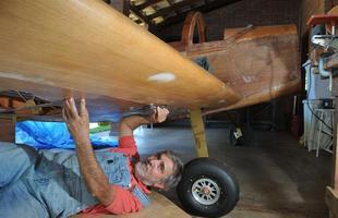 Para muitos amigos, foi uma loucura Jorge Canto se dedicar à construção do Whisky IV, todo em madeira de freijó e compensado aeronáutico
