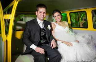 Jornalista Thiago Ventura, do Vrum, usou uma Kombi 1974 em seu casamento