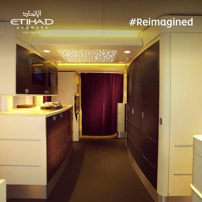 Suite de luxo da Etihad Airways