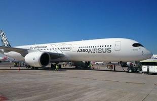Novo Airbus A350-900 é apresentado pela primeira vez em São Paulo