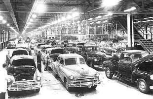 Linha de montagem em 1951