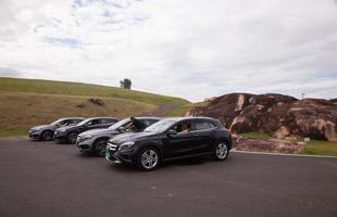 Supesportivos da Mercedes-Benz em pista no Brasil
