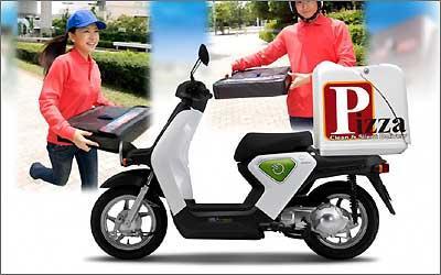 O EV-neo será utilizado para pequenas entregas rápidas, como pizza, jornais e compras -