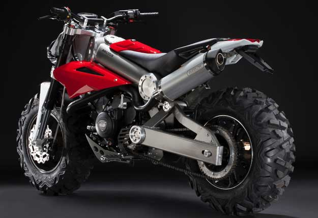 Os freios são a disco nas duas rodas e o painel totalmente digital  - Brutus/Divulgacao