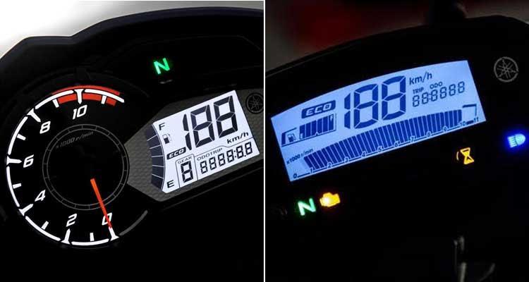 Os painéis têm conta-giros que indica economia e luz que indica se o motor está pronto para rodar - Yamaha/Divulgação