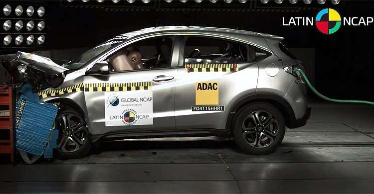 Honda HR-V leva nota máxima no crash test; City e Fit ganham 5 estrelas e Ford Ka quatro