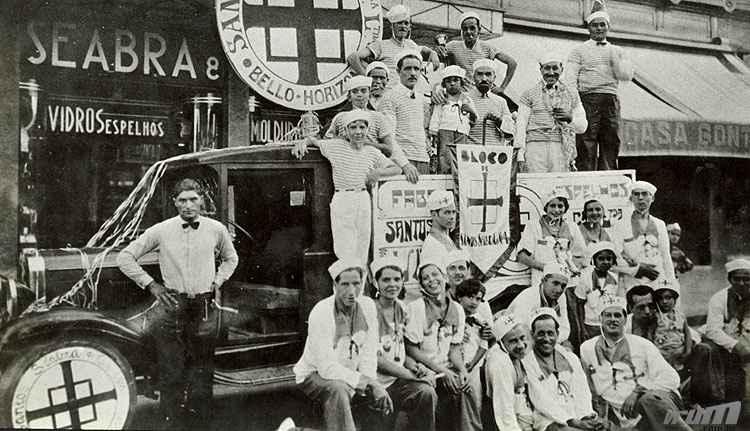 Carnaval 1917: algumas empresas da capital organizavam seus próprios blocos - Arquivo EM