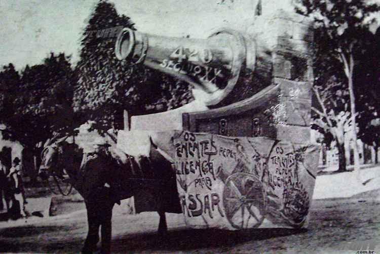 Carro Alegórico do clube Tenentes do Diabo em 1914  - Jornal Tenentes do Diabo/Acerco Hilário Pereira Filho