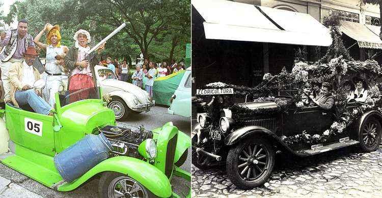 Carros fantasiados marcam história do carnaval em Belo Horizonte
