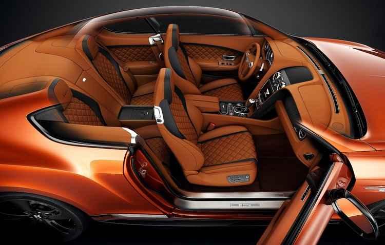 Cada Bentley leva 110 horas para ser produzido, o que inclui o interior artesanal - Bentley/Divulgação