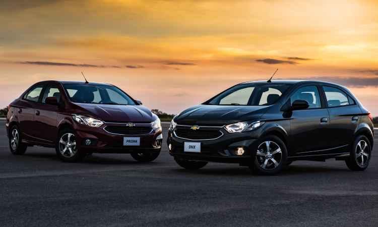 Preços partem de R$ 53.690 para o Prisma e R$ 44.890 para o Onix - General Motors/Divulgação