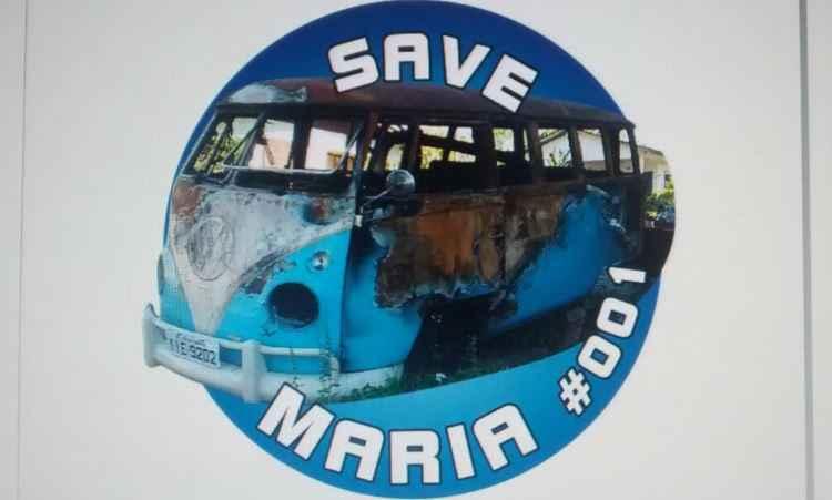 Adesivo da campanha Save Maria custa R$ 9 e entrega é feita pelos Correios - Campanha Save Maria/Reprodução da internet