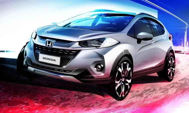 Primeiro esboço revelado do Honda WR-V - Honda/Divulgação