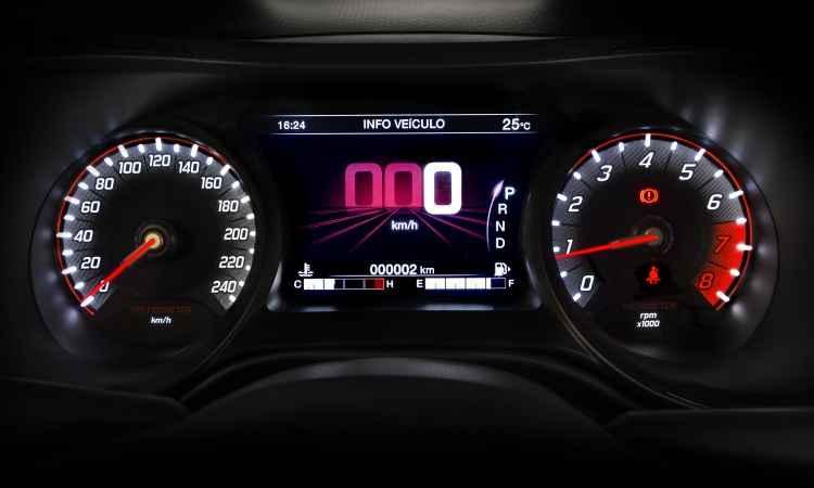 Versão HGT tem display de 7 polegadas no painel de instrumentos - Fiat/Divulgação