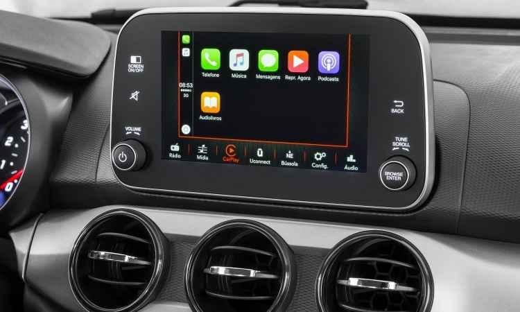 Sistema de informação e entretenimento traz aplicativos - Fiat/Divulgação