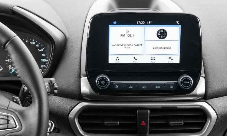 Tela de 6,5 polegadas da versão de entrada SE - Ford/Divulgação