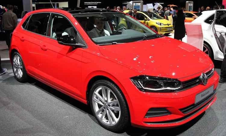 A Volkswagen mostra na Alemanha o novo Polo, que será lançado no Brasil no fim do mês - Daniel Roland/AFP