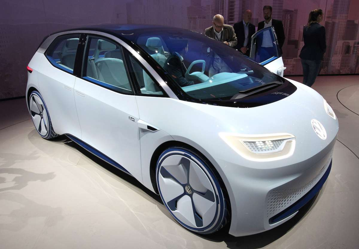 Com o I.D. Concept a VW demonstra a sua visão do futuro em relação a veículos elétricos e autônomos - Daniel Roland/AFP