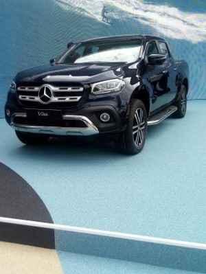 A picape média Mercedes-Benz Classe X tem posição de destaque no estande da marca alemã - Enio Greco/EM/D.A Press