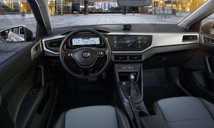 O plástico predomina no acabamento interno, mas o material é de boa qualidade - Volkswagen/Divulgação