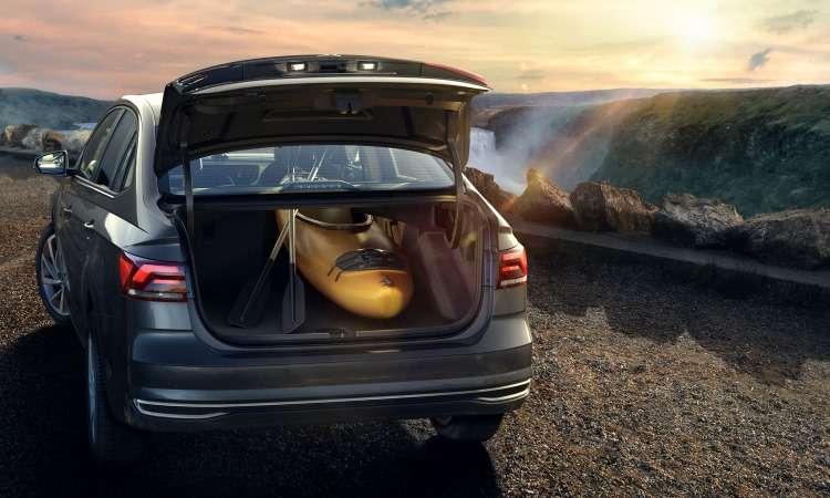 Com 521 litros e o banco traseiro rebatido, o porta-malas possibilita o transporte de objetos grandes - Volkswagen/Divulgação
