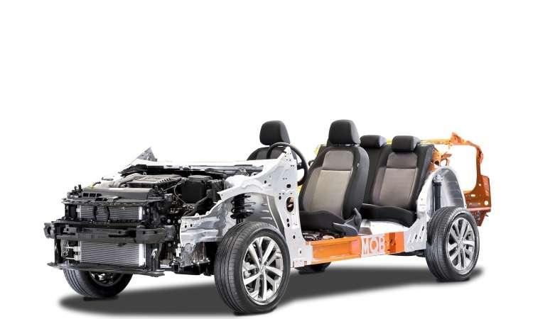 A plataforma modular MQB A0 é construída com aço de alta e ultra resistência - Volkswagen/Divulgação