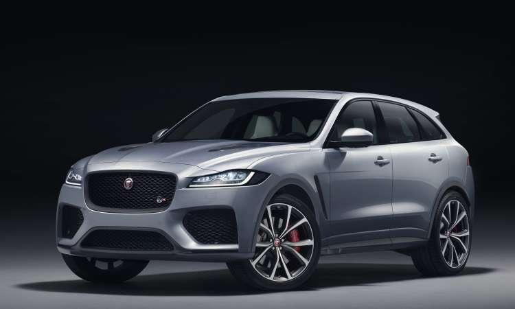 O destaque da Jaguar é o F-Pace SVR, versão equipada com motor V8 de 550cv - Jaguar/Divulgação