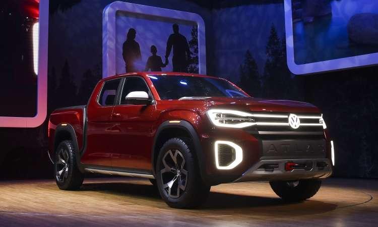Volkswagen Atlas Tanoak Concept, picape com carroceria do tipo monobloco - Drew Angerer/AFP