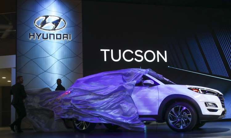 O novo Hyundai Tucson também marca presença em Nova York - Drew Angerer/AFP