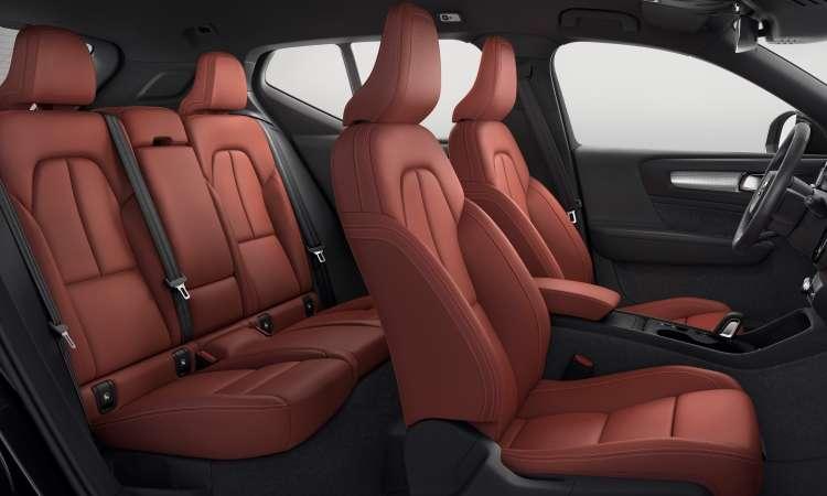 A versão mais cara pode ter acabamento interno com revestimento em couro vermelho - Volvo/Divulgação