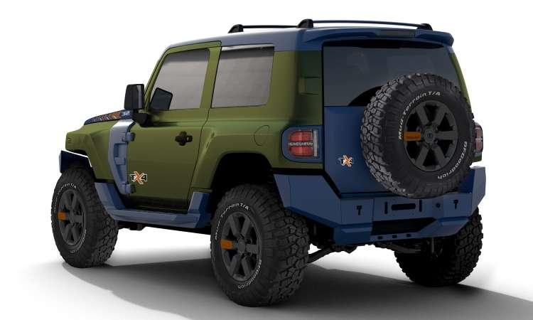 Além de ter a carroceria em duas cores, o TX4 traz uma série de acessórios especiais, além de pneus diferenciados - Troller/Divulgação