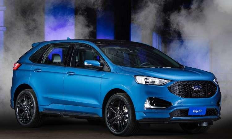 A versão ST do SUV Edge é equipada com eficiente motor V6 de 340cv de potência - Ford/Divulgação
