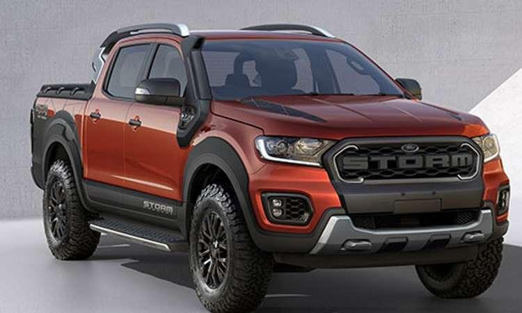A Ranger Storm tem carroceria em duas cores e detalhes externos que a deixam mais robusta - Ford/Divulgação