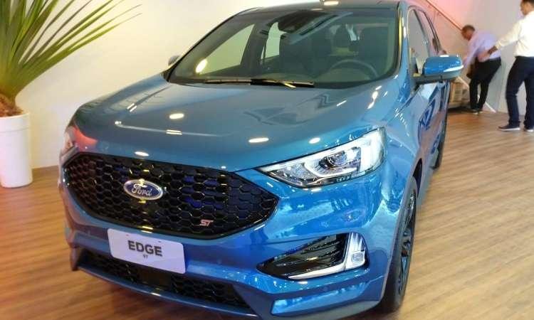 O Ford Edge ST é equipado com motor V6 de 340cv e chegará ao mercado logo após o Salão - Pedro Cerqueira/EM/D.A Press