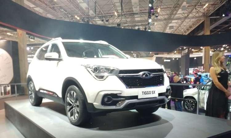 A Chery vai ampliar a linha de SUVs com o Tiggo 5x, que chega no próximo mês - Pedro Cerqueira/EM/D.A Press