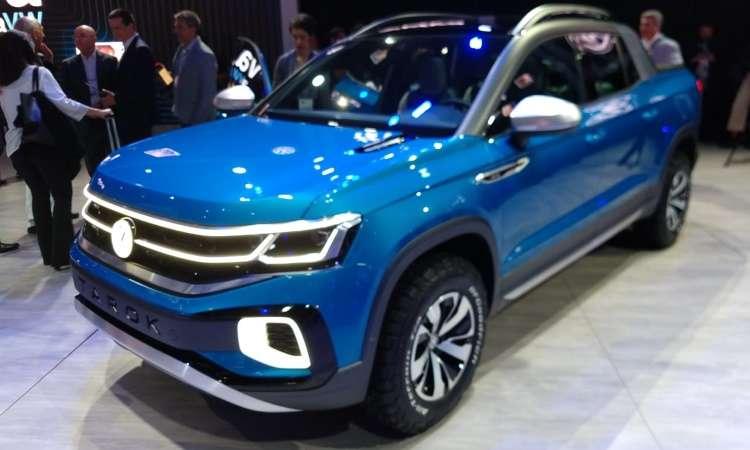 A Volkswagen apresentou a picape Tarok como conceito, mas admitiu que o modelo será produzido em série - Pedro Cerqueira/EM/D.A Press