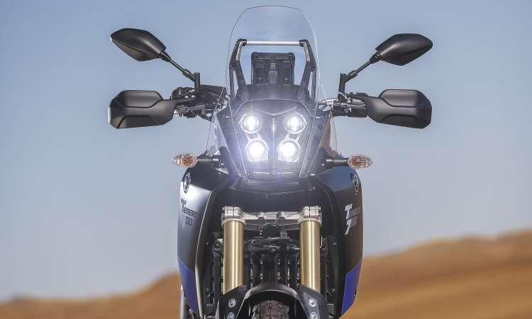 O conjunto de faróis em LED tem inspiração nos ralis - Yamaha/Divulgação