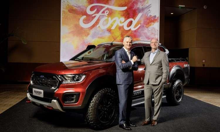Lyle Watters, presidente da Ford América do Sul, e Rogelio Golfarb, vice-presidente de assuntos corporativos, confirmaram o lançamento da Ranger Storm - Ford/Divulgação