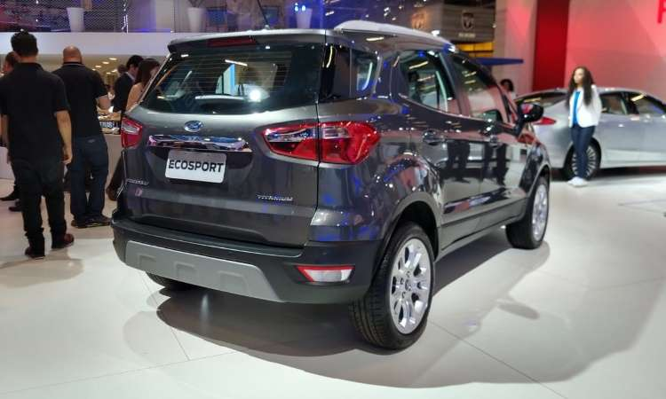 O EcoSport sem o estepe na traseira e com tecnologia Run Flat Tire também não demora a chegar - Ford/Divulgação